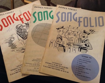Armed Forces Song Folio 1955 1951 1952