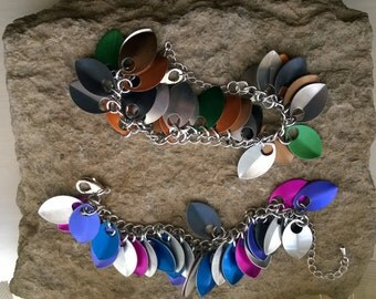 Scale Maille bracelet - your choice of colours