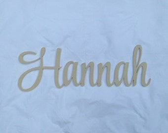 Large Wooden Script Name, DIY Script Name, Cursive Name, Room Decor, Wall Decor, Nursery Decor, Child's Room Decor, Name Sign, Name, Script