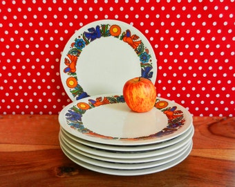 RESERVED*** Set of 7 luncheon plates Acapulco (24cm-9 1/2) Villeroy&Boch Old Milano Mid.Century 70s