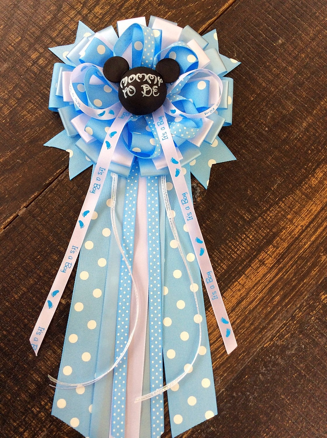mickey mouse baby shower mommy to be bow