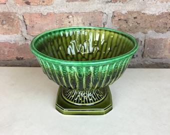 Green Drip Glaze Planter