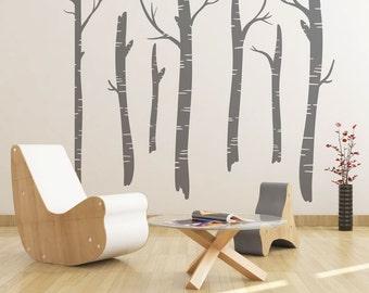 Birch Trees Vinyl Wall Art