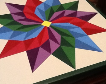 Beautiful 12 Pointed Star barn quilt!