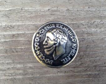 Vintage military button magnet