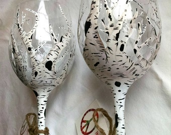 Birch Tree Wine Glass