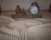 By The Half Yard! Wheat & Cream Ticking Dunroven House Homespun Fabric #H86