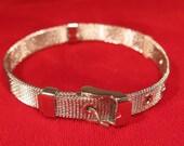 BULK! 10pc adjustable buckle bracelet in stainless steel (JC115B)