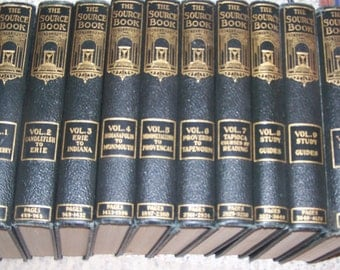 The Source Book Encyclopedia ~ 10 Volume Set ~ Hardcover ~ 1931 by Perpetual Encyclopedia Corporation