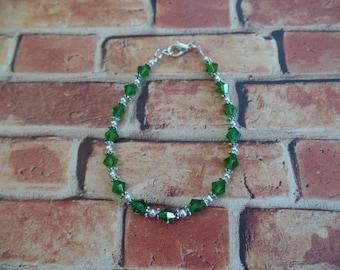Green Swarovski Crystal Bracelet