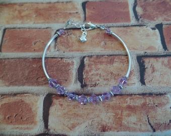 Genuine Swarovski Violet Crystal Bracelet