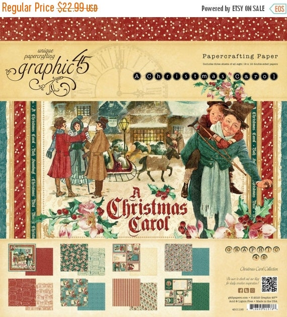 ON SALE Graphic 45 - A Christmas Carol 12x12 Paper Pad - Item 4501195