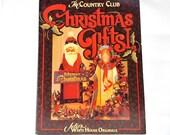 De Country Club, Kerstcadeaus 1, Julie de witte huis originelen, Tole schilderij, schilderij van vakantie, houten projecten, Kerstmis schilderij