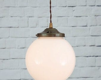Gentry 20cm Opal Globe Pendant Light