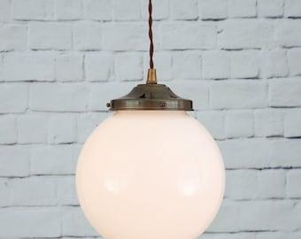 Gentry 20cm Opal Globe Pendant Light