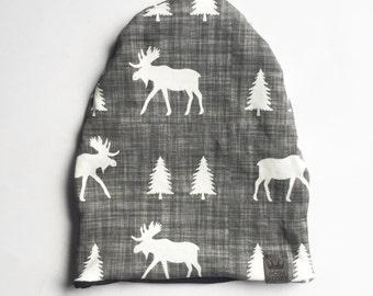 Baby hat // organic cotton hat // organic baby hat // organic toddler hat // organic hat // organic hat in moose print // newborn hat //
