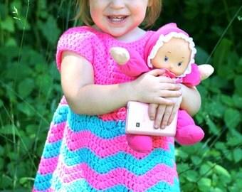 Crochet chevron dress