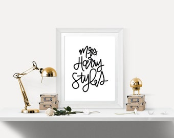Mrs. Harry Styles Print