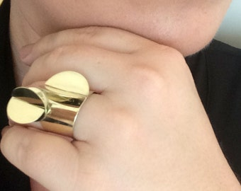 Gold ring - Unique 14k Gold Ring - Modern Gold ring