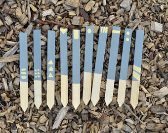 Simple, Patterned Garden Stakes