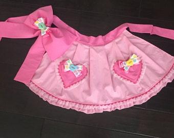 "Pink ""SweetHearts"" Hostess Apron."