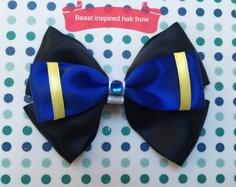 Disney inspired Beast hair bow from Beauty and the Beast
