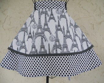 Two tier ladies half apron.