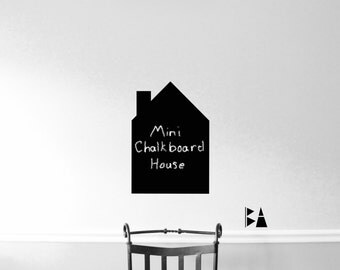 Small Chalkboard House. Child's Room Decal. Vinyl Wall Decal. Chalkboard vinyl. Wall Decal. Wall sticker. Home decor decals.