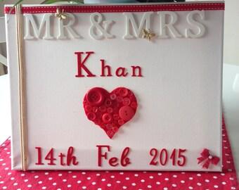Mr & Mrs Wedding Canvas