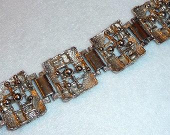 Bracelet. Tapani Vanhatalo (Finland). Silver Plated Pewter. Vintage.