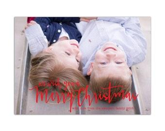 Photo Christmas Card // Christmas Cards // Holiday Photo Cards // Christmas Greeting Card // 5x7 Printable Photo Holiday Card // The Swanson