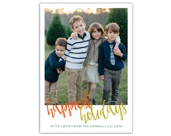 Photo Holiday Cards // Christmas Photo Cards // Custom photo Christmas Cards // 5x7 Printable Holiday Card // The Kendall
