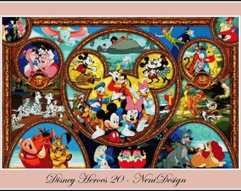 Disney Heroes 20 - cross stitch pattern - PDF pattern - instant download!