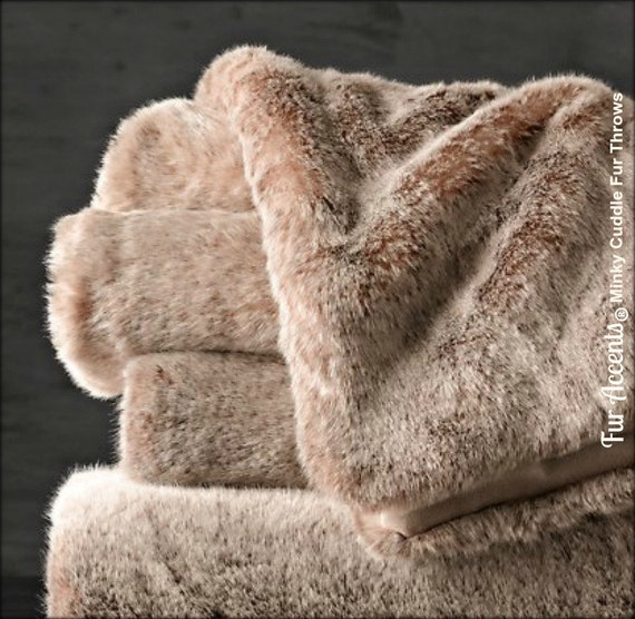 worlds softest minky cuddle fur throw blanket reversible. Black Bedroom Furniture Sets. Home Design Ideas