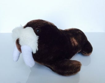 Vintage Sea World Plush Walrus