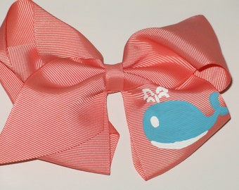 Hand Painted Whale Bow