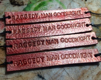 Raggedy Man Goodnight Eleventh Doctor Fandom Inspired Tie Up Leather Bracelets