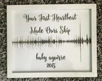 Custom baby heartbeat print