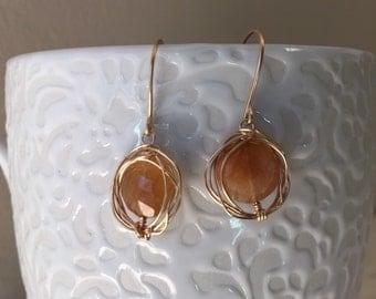 Rutilated Crystal Quartz Earrings