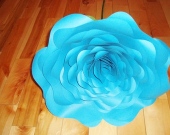 Giant Stemmed Paper Rose - Paper Flowers | Paper Flower | Alternative Bouquet | Paper Rose | Wedding Bouquet | Bridal Bouquet | Wedding