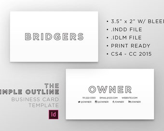 The Simple Outline - Business Cards
