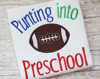 School Applique - Back to School Applique - Preschool Applique - Football Applique - School Embroidery -