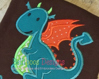Dragon Applique Design - Dragon Embroidery Design - Bog Applique Design - Applique Design - Animal Applique Design