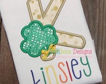Shamrock Applique Design - Alphabet Applique Design - St. Patrick's Day Applique Design - Shamrock Embroidery Design