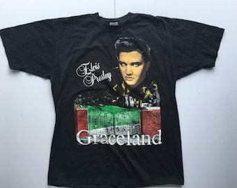 Vintage Elvis Presley Graceland Tee Shirt 50/50 L Large