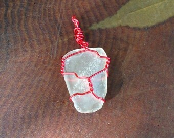 Clear Beach Glass Pendant