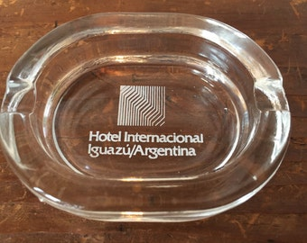 Hotel Internacional Iguazu Argentina Vintage Glass Ashtray