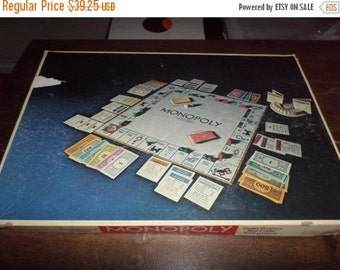 Save 10% Today Rare Vintage 1973 Board Game Monopoly 40th Anniversary Edition 100 Percent Complete