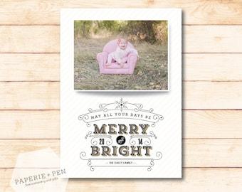 Merry & Bright // Christmas Photo Card