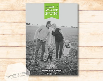 Oh What Fun Arrows // Holiday Photo Card
